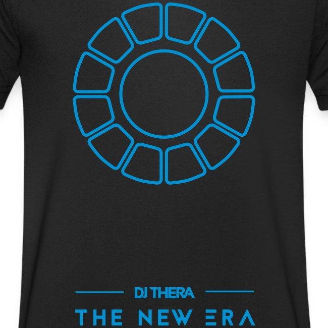T-shirt Blue logo Dikke L