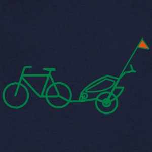 Bike trailer - T-shirt med v-ringning herr