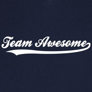 Team Awesome! - T-skjorte med V-utsnitt for menn
