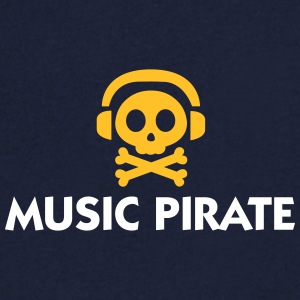 Music Pirate - Men's V-Neck T-Shirt
