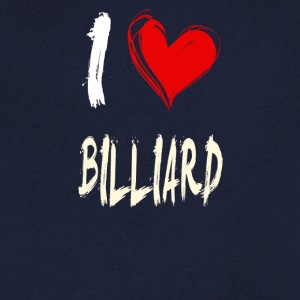I Love Billiards - Men's V-Neck T-Shirt