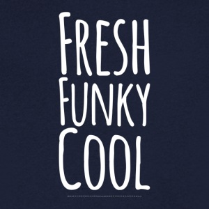 Fresh Funky Cool white - Men's V-Neck T-Shirt