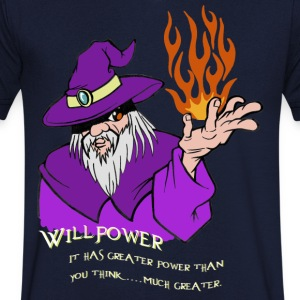 Willpower Assistant Violet / Rouge / Orange Flame - T-shirt Homme col V