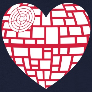 Death Star Heart Vector - T-shirt med v-ringning herr