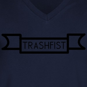 TrashFist - Ruler ribbon - T-skjorte med V-utsnitt for menn