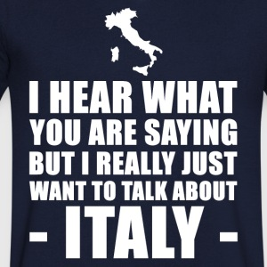Funny Italy Holiday Gift Idea - Men's V-Neck T-Shirt