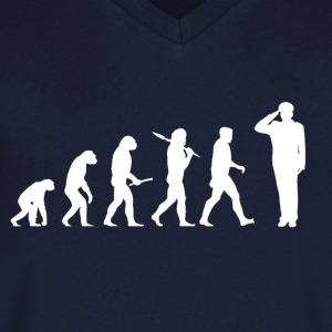 Evolution marinen! Military! Army! - T-shirt med v-ringning herr