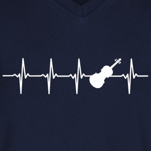 Violin - heart beat - Men's V-Neck T-Shirt