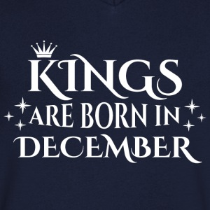 Kings are born in December - Men's V-Neck T-Shirt