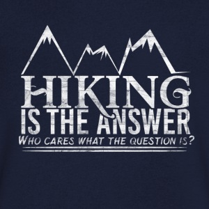I love Hiking - Men's V-Neck T-Shirt