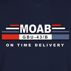MOAB - Mutter Aller Bomben (Mother Of All Bombs) - Männer T-Shirt mit V-Ausschnitt