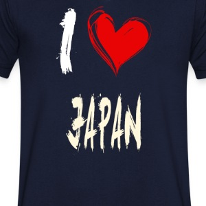 I love japan - Men's V-Neck T-Shirt