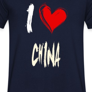 I love china - T-shirt Homme col V