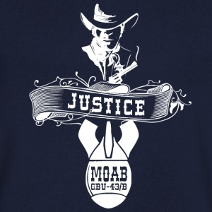 MOAB - Mother Of All Bombs - Shirt - Männer T-Shirt mit V-Ausschnitt