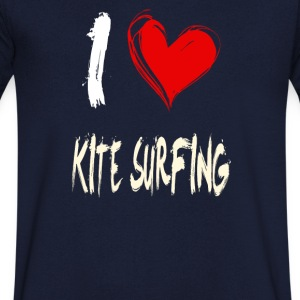 I love kite surfing - Men's V-Neck T-Shirt