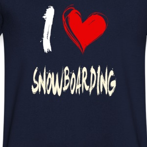 J'aime le snowboard - T-shirt Homme col V