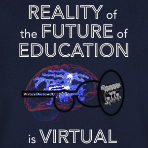 Reality of the future of education - Men's V-Neck T-Shirt