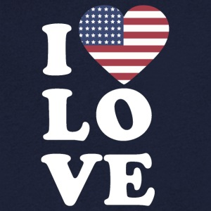 I love USA - Men's V-Neck T-Shirt