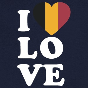 I love Belgium - Men's V-Neck T-Shirt