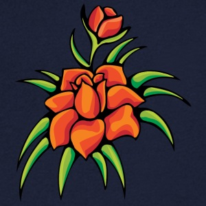 2 flowers - Men's V-Neck T-Shirt
