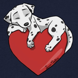 Dalmatian Heart - Men's V-Neck T-Shirt