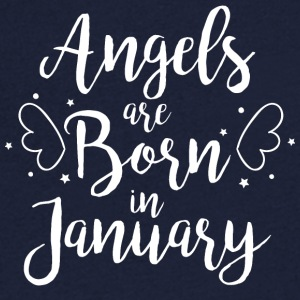 Angels are born in January - Men's V-Neck T-Shirt
