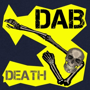 DAB DEATH YELLOW / Yellow dab of death - Men's V-Neck T-Shirt