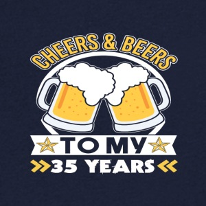 Cheers & Beers 35th birthday - Men's V-Neck T-Shirt