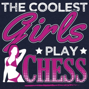 COOLEST GIRLS PLAY CHESS - Men's V-Neck T-Shirt