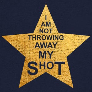 I am not throwing away my shot - Männer T-Shirt mit V-Ausschnitt