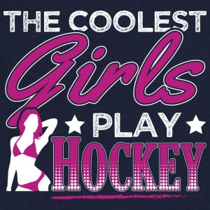 COOLEST GIRLS PLAY HOCKEY - Men's V-Neck T-Shirt