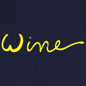 Wine art logo YELLOW - Men's V-Neck T-Shirt