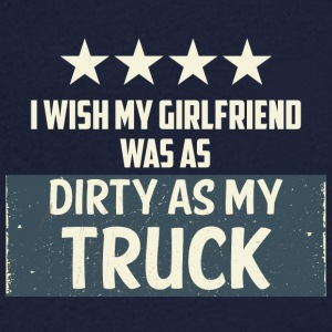 Trucker / Truck Driver: I Wish My Girlfriend Hva As - T-skjorte med V-utsnitt for menn