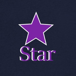 Purple Star - T-skjorte med V-utsnitt for menn