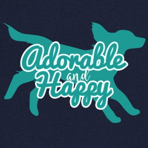 Dog / Cocker Spaniel: Adorable And Happy - Men's V-Neck T-Shirt