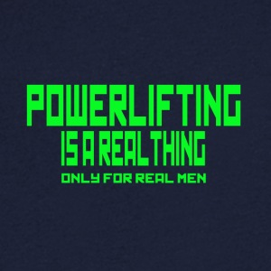REAL THING vert - T-shirt Homme col V
