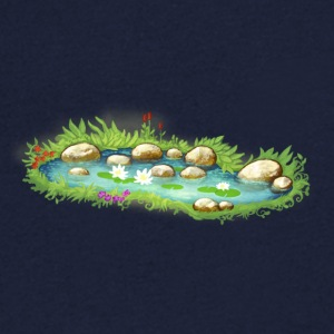 Garden Pond Pond Water Plants - Men's V-Neck T-Shirt