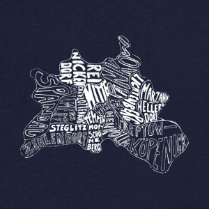 Berlin map Districts - Men's V-Neck T-Shirt