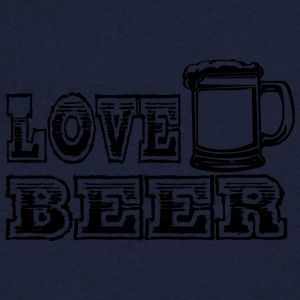 LOVE BEER black - Men's V-Neck T-Shirt