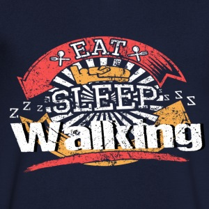 Eat Sleep Run - Herre T-shirt med V-udskæring