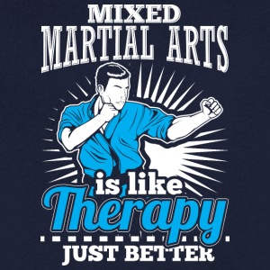MMA THERAPY - Men's V-Neck T-Shirt