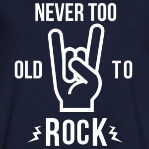 Never too old to rock - Men's V-Neck T-Shirt