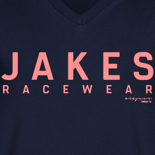 JAKES_Original_2018_Logo_ - Økologisk Stanley & Stella T-shirt med V-udskæring til herrer