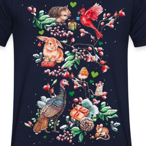 Vrolijke vegan feestdagen! - Mannen bio T-shirt met V-hals van Stanley & Stella