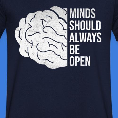 Weltoffenheit ist Grundlage für Erfolg un Freiheit - Männer Bio-T-Shirt mit V-Ausschnitt von Stanley & Stella