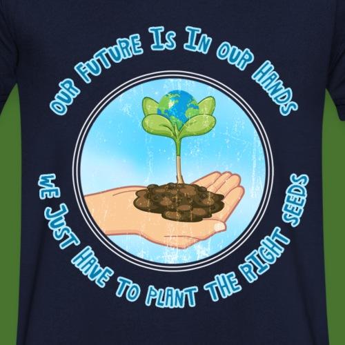 Bewahre unseren wunderschönen Planet Erde - Männer Bio-T-Shirt mit V-Ausschnitt von Stanley & Stella