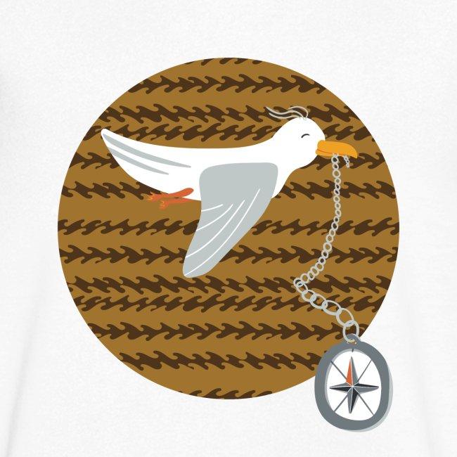 Freche Möwe stiehlt Kompass und fliegt davon