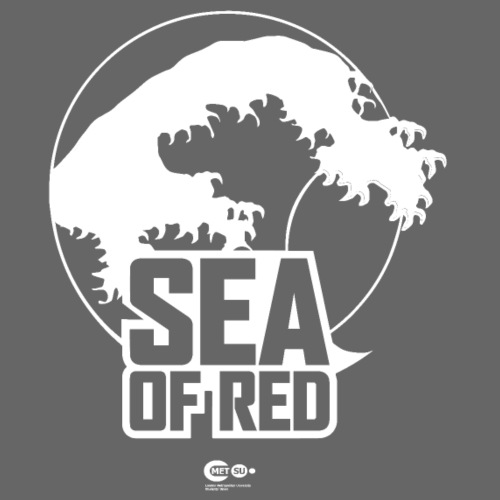 Sea of red logo - white small - Men's Organic V-Neck T-Shirt by Stanley & Stella