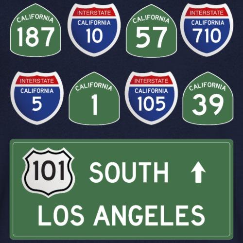 Los Angeles Roads - T-shirt bio col V Stanley & Stella Homme