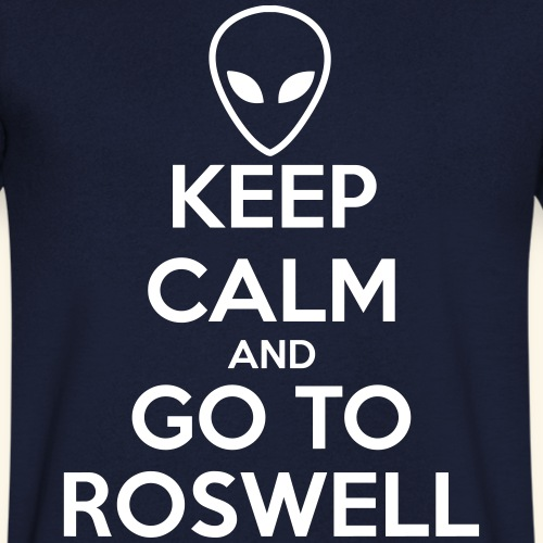 keep calm go to Roswell - T-shirt bio col V Stanley & Stella Homme